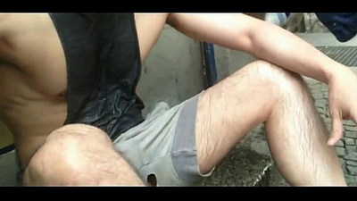 Public piss during street festival Sequence