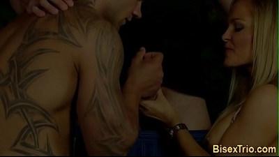 Babes sucking bisex dicks