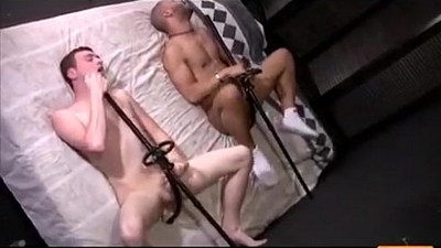 two cute guys self fuck themselves with toys