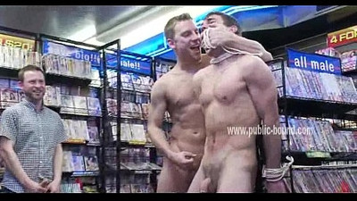 Sexy gay twink forced to lick asses