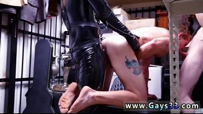 Naked straight friends films gay Dungeon tormentor with a gimp