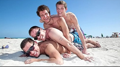 GAYWIRE Vince Ryan, Spencer Fox, Daniel Freeman and Swiss Having A Fun Day Out