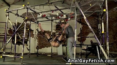 Gay black on black bondage sex Shoving some yam sized fucktoys into