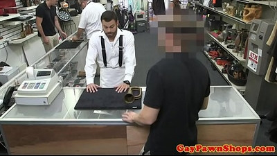 Straightbait bloke sucking pawnbroker