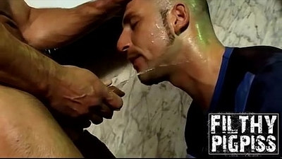 Hunk Austin and horny Aitor plays with dildo