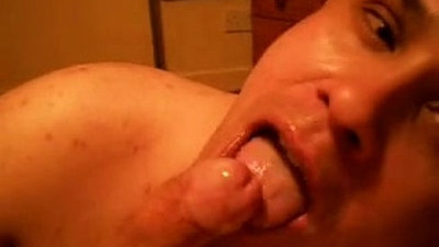 I Get Sloppy Cum Facial and Swallow Loads Of Hot Jizz